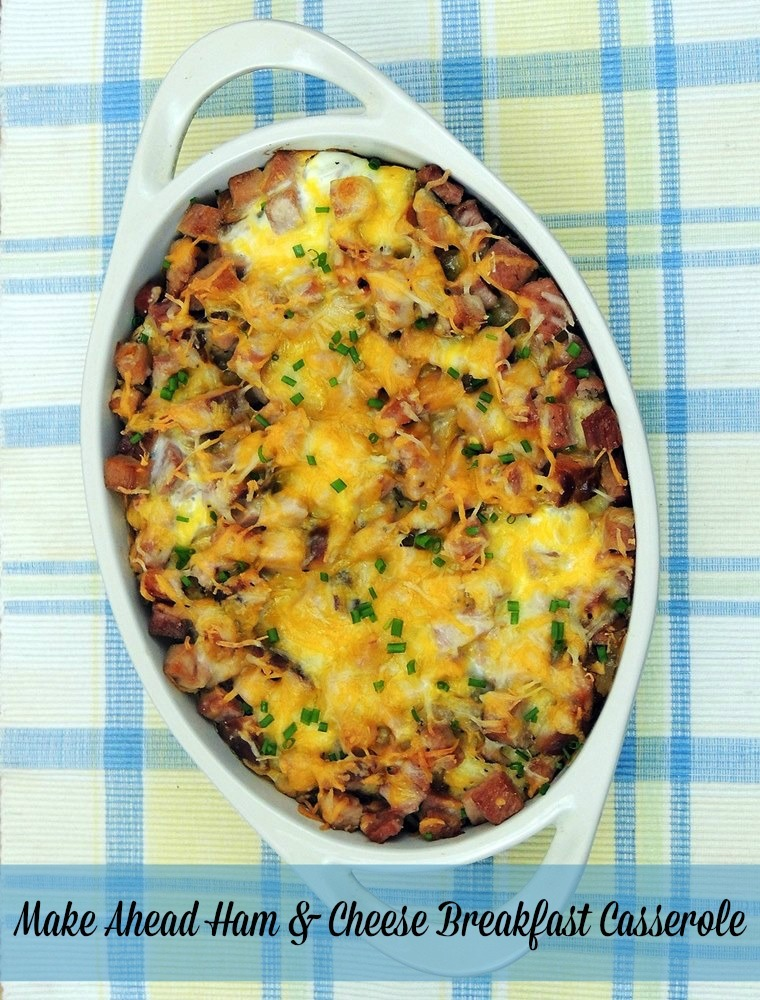 Make Ahead Ham and Cheese Breakfast Casserole