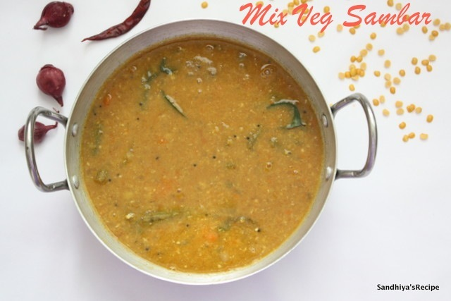 South Indian Sambar | Mix Vegetable Sambar | Tamilnadu Sambar with Coconut