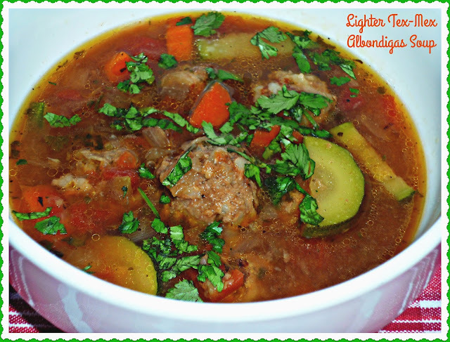 Lean Beef Recipes #SundaySupper...Featuring Lighter Tex-Mex Albondigas Soup