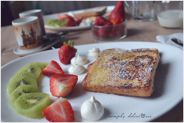 Süße leckere French Toast