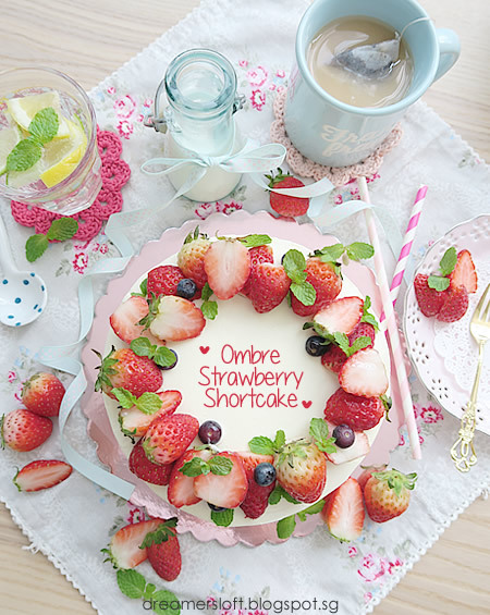 Ombre Strawberry Shortcake - Sunday Times feature