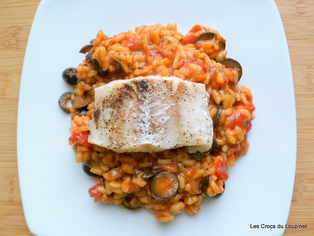 Risotto rapide tomates- olives noires