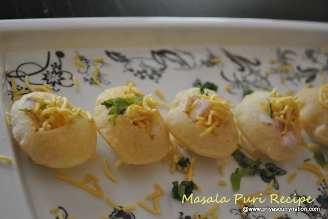 Masala Puri Recipe,how to make mumbai sev-bataka puri at home