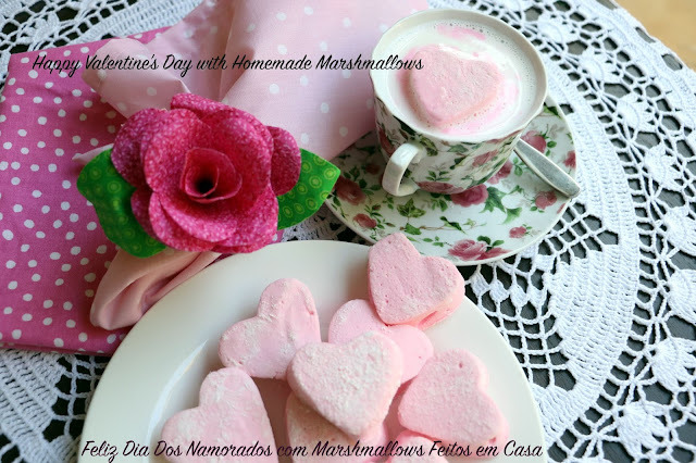 Valentine's Day Marshmallows Recipe - Receita de Marshmallows para o Dia dos Namorados