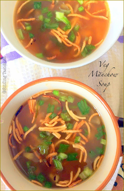 Veg Manchow Soup | Hot soups for kids | Indo chinese