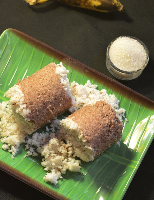 Red Rice Puttu | Red Rice Steamed Cylindrical Cake | South Indian Breakfast