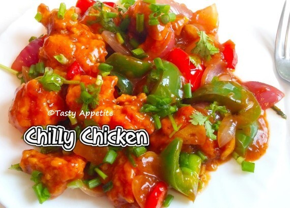 CHILLI CHICKEN / RESTAURANT STYLE - EASY VIDEO RECIPE
