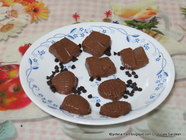 Chocolate Sandesh An Indian Sweet