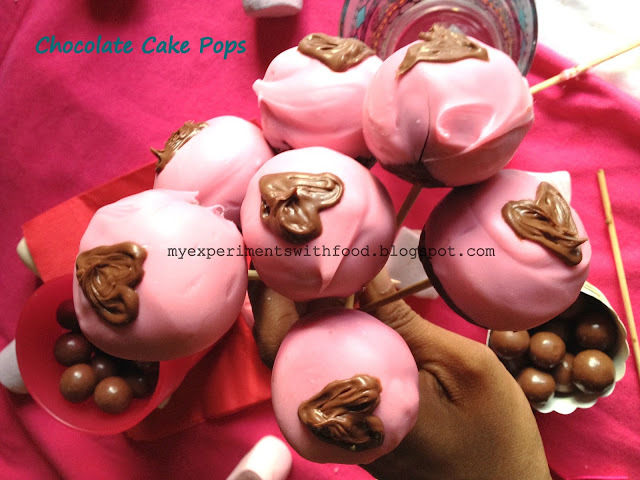 Chocolate Cake Pops for Valentine's Day