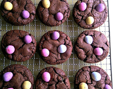 Mini Egg Brownie Cookies