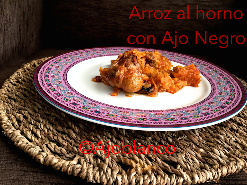 Arroz al Horno con Fruit Black Garlic y pasas
