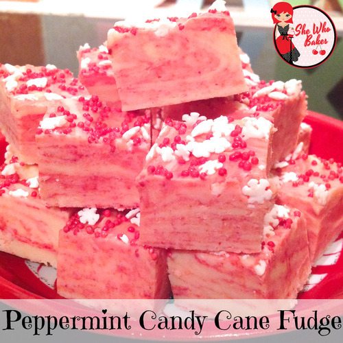 Peppermint Candy Cane Fudge