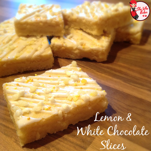 Lemon & White Chocolate Slices