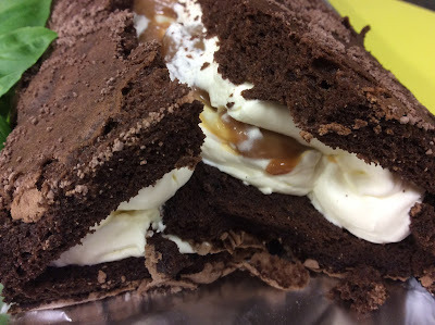 Salted Caramel Chocolate Roulade