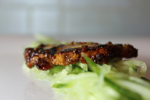 Glazed Honey Pork with Mustard.