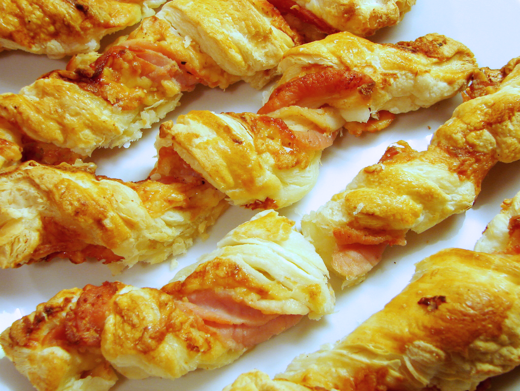 The Best Savoury Snack: Cheddar and Bacon Pastry Straws