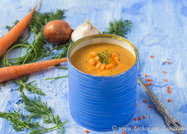 Rote Linsensuppe/ Red lentil soup