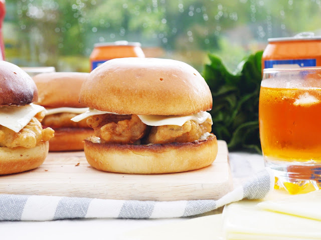 Battered Fish Burgers.