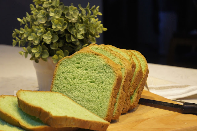Bread Maker Fun : Pandan Loaf 自制香兰面包