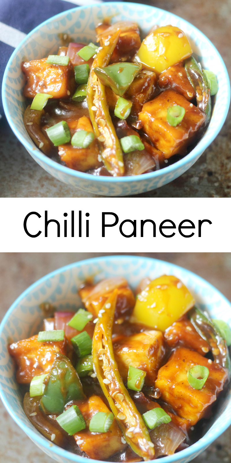 Low Fat Chilli Paneer : Indo Chinese Recipe