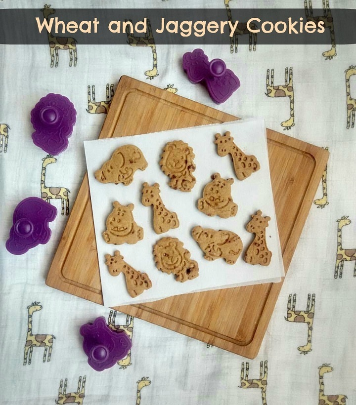 Wheat and Jaggery Cookies