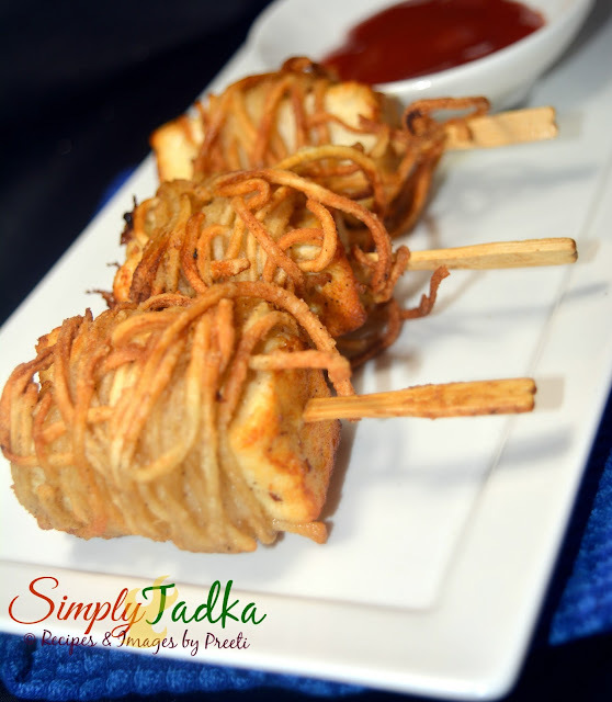 Noodles Wrapped Paneer