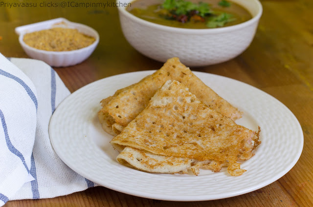 Menthe Dose/Methi Dosa/Fenugreek Dosa with Mixed Vegetable sambar - udupi hotel style sambhar/Sambar