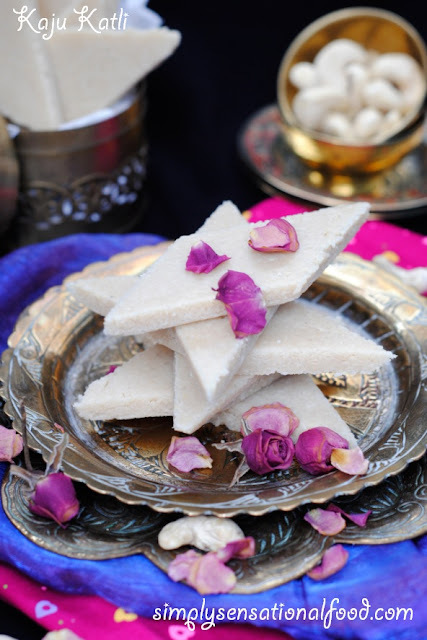 Kaju Katli ~ Indian cashew nut sweet