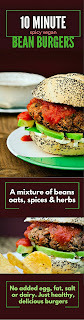 10 Minute Spicy Vegan Bean Burgers