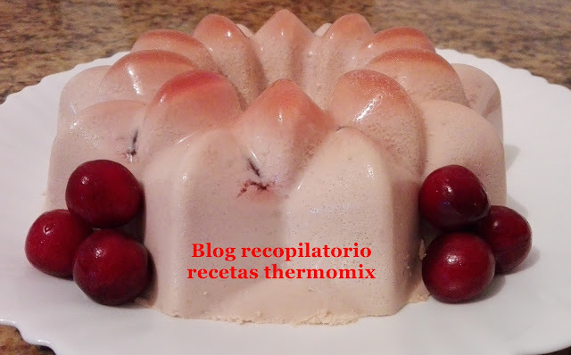 Panna de cerezas thermomix
