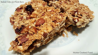 Baked Oats and Nuts Bars