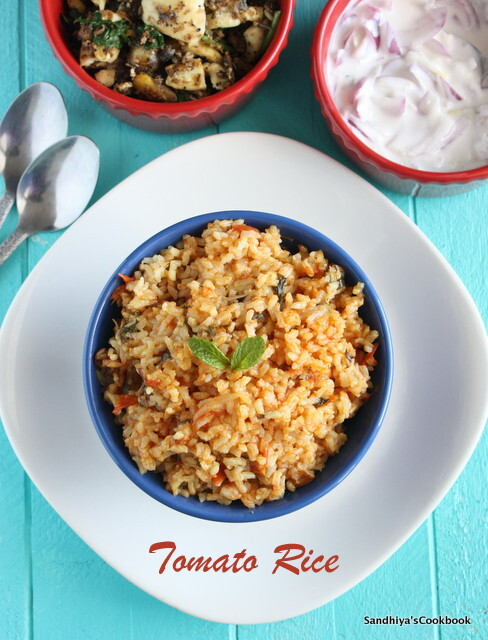 Tomato Rice with Jeeraga Samba Rice | Thakkali Satham
