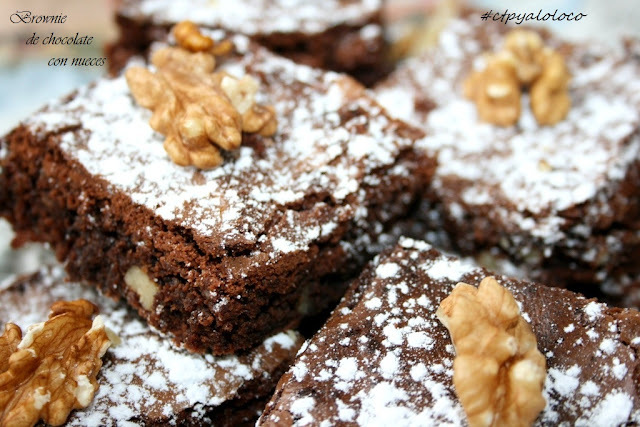 Brownie de chocolate con nueces