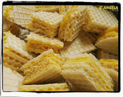 Andruty z żółtą masą - Yellow Wafers Recipe - Wafer con crema gialla