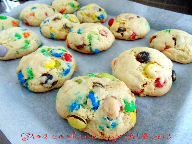 Gros cookies aux M&ms