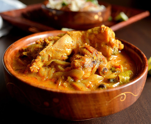 Nadan Chicken Curry - Kerala Style without coconut