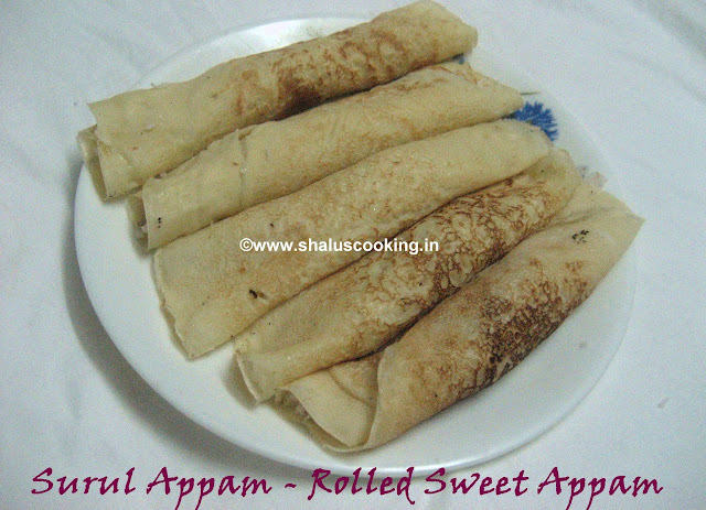 Surul Appam - Rolled Sweet Appam