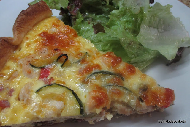 Quiche de Frango, Bacon, Cogumelos e Courgete