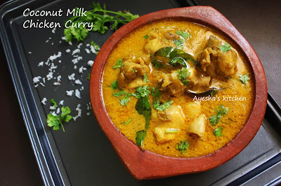 CHICKEN CURRY WITH COCONUT MILK RECIPE - CHICKEN RECIPES / COCONUT MILK RECIPES