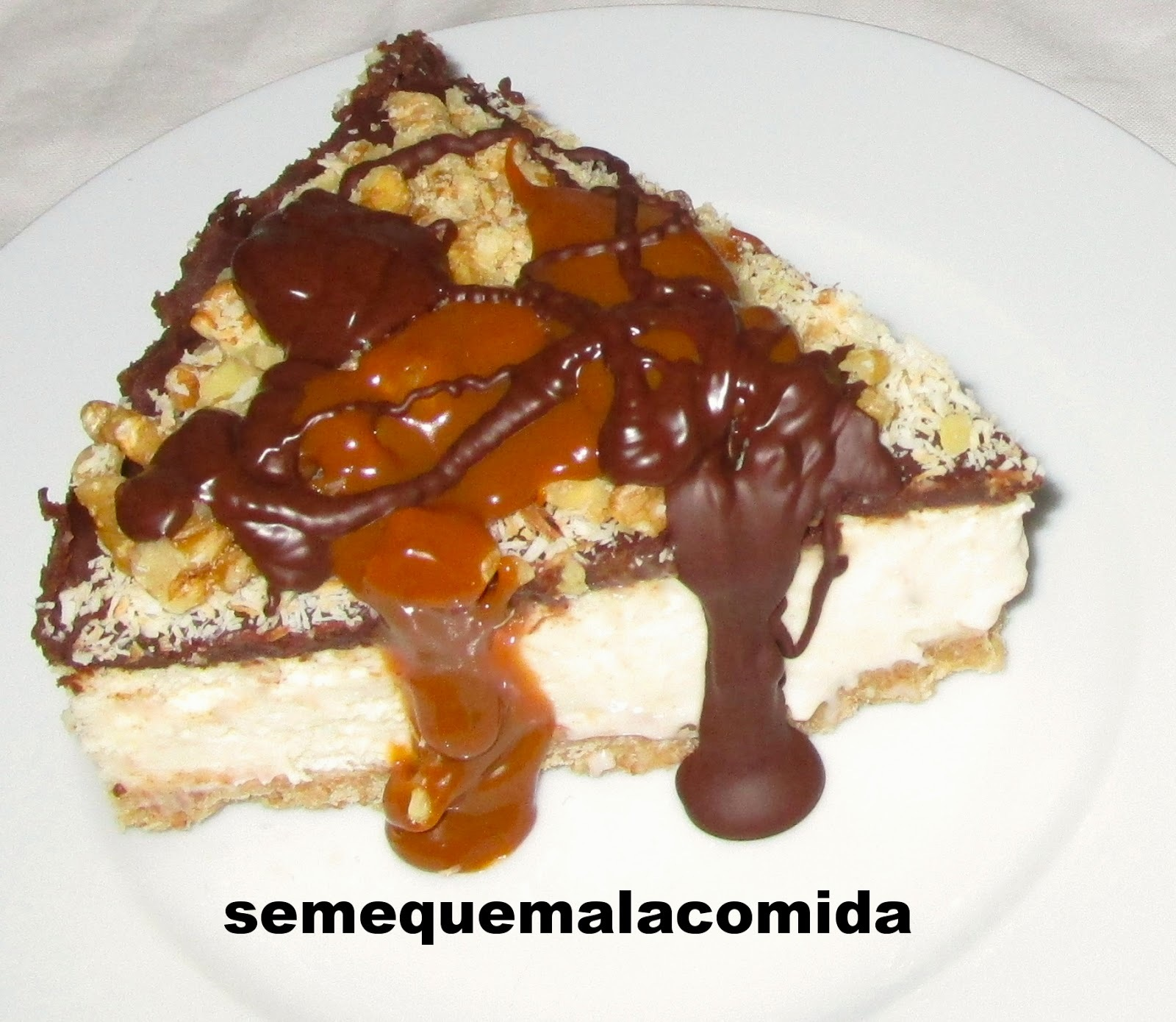 TARTA ALEMANA DE QUESO Y CHOCOLATE