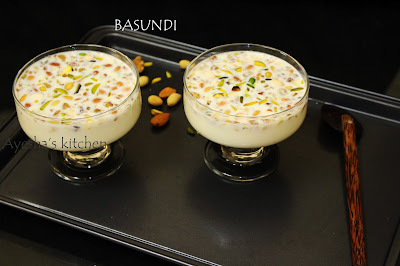EASY DESSERT RECIPE - BASUNDI RECIPE / INDIAN SWEETS