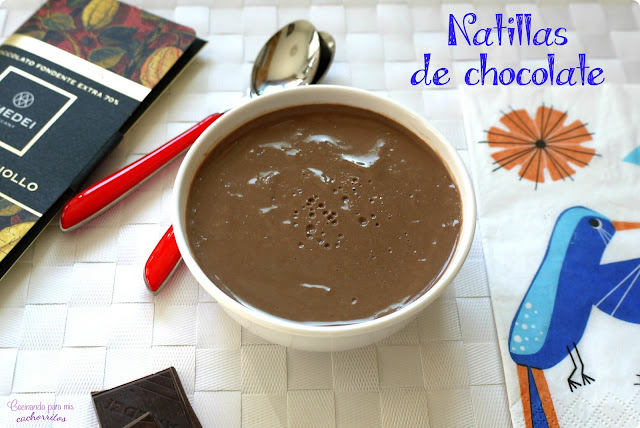 Natillas de chocolate caseras {receta con thermomix}