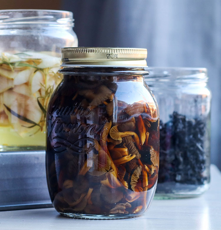 Soijapikkelöidyt suppilovahverot | Soy pickled funnel chanterelles