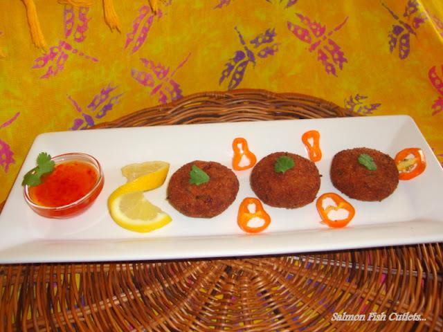 Salmon Fish Cutlets / Fish Cutlet Recipe / Fish Tikki Recipe