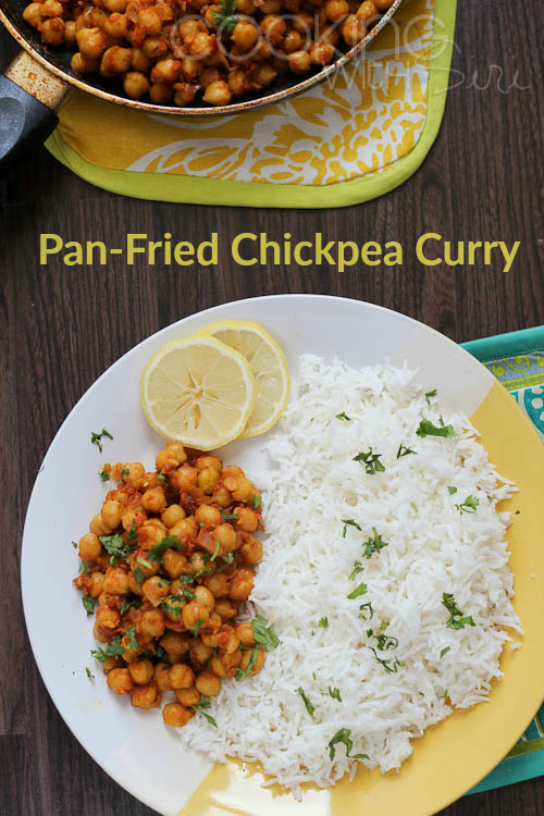 Tarla Dalal's Tawa Chana | Pan-Fried Chickpeas Curry Recipe