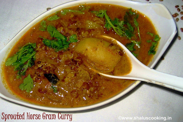 Sprouted Horse Gram Curry