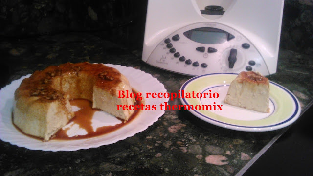 Flan de nueces y mascarpone thermomix