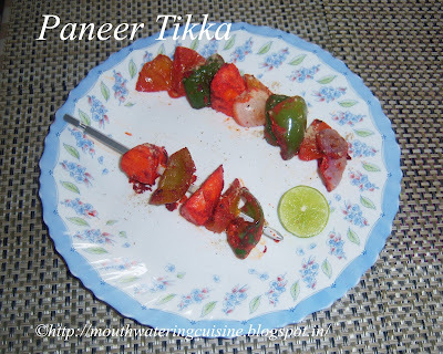 Paneer Tikka -- How to make Paneer Tikka Recipe
