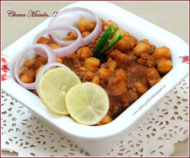 Punjabi Chholay Masala... Spicy Chick Pea Curry In Punjabi Style..!!!!!
