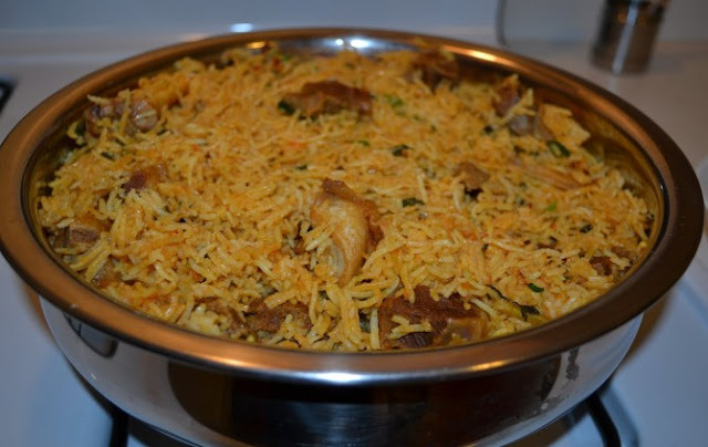 South Indian Style Mutton Biryani